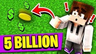 BETTING 5 BILLION DOLLARS ON A COIN FLIP! (Minecraft Skyblock)