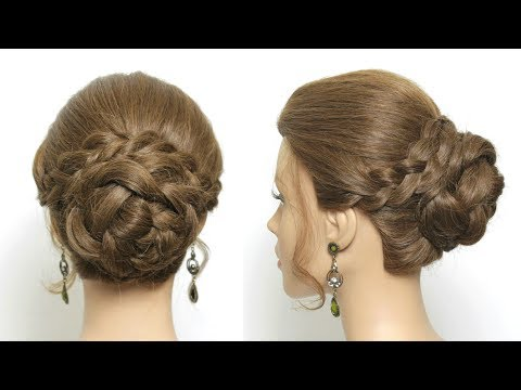 Hairstyles for long hair - Easy Party Updo. Everyday Braided Bun. Prom Hairstyle For Long Hair