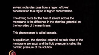Mod-01 Lec-22 Membranes (continued)