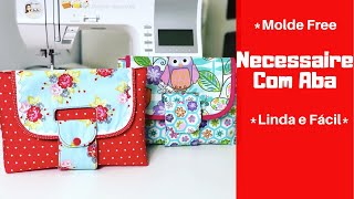 DIY Necessaire com Aba - Free Pattern - English Subtitles - DIY Cute Pouch❤️
