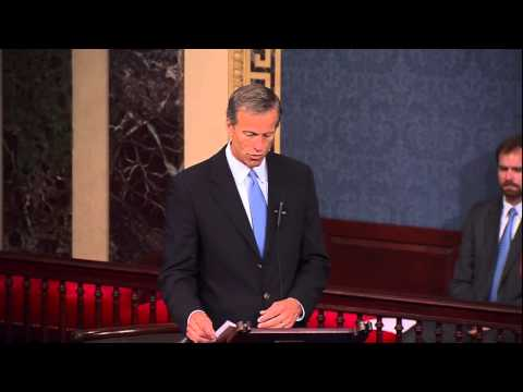 U.S. Senator John Thune took to the Senate floor today to honor the 70th anniversary of the heroic landings of D-Day at Normandy.  (Thune.gov)