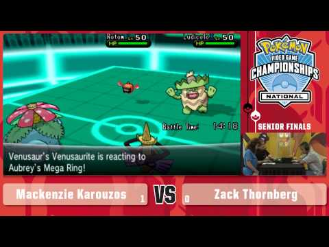 Senior - http://bit.ly/1qRIAT7 Watch Mackenzie Karouzos battle Zack Thornberg in the finals of the 2014 Pokémon US National Championships Video Game Senior Division! Learn more about the Pokémon US...