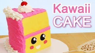 ❤ EASIEST KAWAII Slice of CAKE!