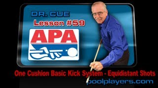 Dr. Cue Pool Lesson #59: One Cushion Kick Back System (Equidistant Shots)!