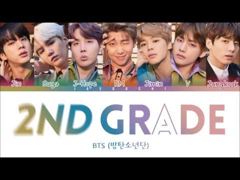 BTS - 2ND GRADE (2학년) (Color Coded Lyrics Eng/Rom/Han)