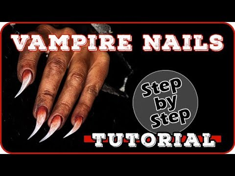 Nageldesign - Vampire Creature Nails  Nail Art Tutorial  Halloween 2018