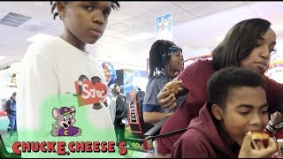 TOOK THE KID'S TO TURN UP AT CHUCKY CHEESE!!
