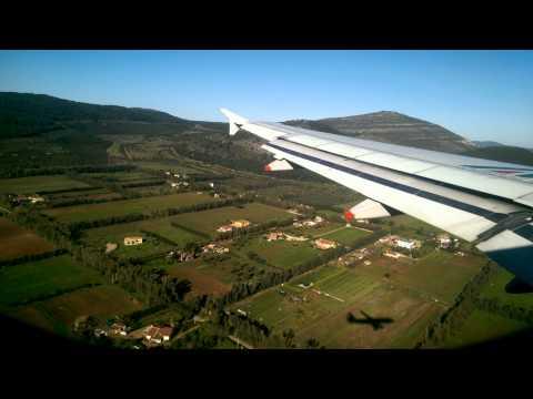 Airbus A319 Landing. Alghero - Alitalia
