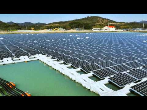Mô hình nhà máy điện mặt trời nổi tại Nhật Bản