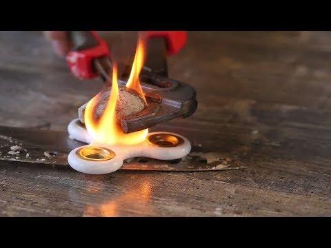 Sıcak top vs stres Çarkı ve dahası (hot iron ball vs fidget spinner )