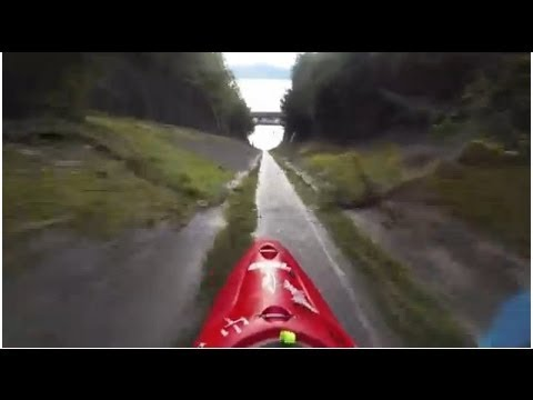 Kayaking Down a Drainage Ditch - YouTube