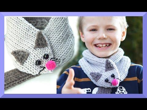 Schal für Kinder stricken – Maus Schal – einfach für Anfänger – Kanal Häkeln und Stricken