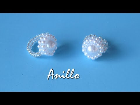 DIY - Anillo todo perlas para novia - All pearl ring for girlfriend