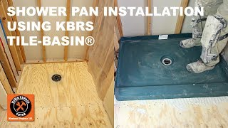 """In this video we share how to install KBRS Tile-Basin® custom share pans in less than two hours. For more information visithttps://www.homerepairtutor.com/custom-shower-pans/Here are the steps for installing the KBRS Tile-Basin®:1 - Sound and level subfloor2 - Properly installed shower drain3 - Remove the drain clamping ring4 - Dry fit tile basin for drain alignment and proper fit of pan5 - Mix polymer modified thin-set per manufacturer's directions6 - Pour thin-set onto subfloor and directional trowel with 3/4"""" U-Shaped trowel provided by KBRS7 - Apply silicone sealant to out edge of drain base8 - Set the tile basin in the thin-set and over the drain9 - Walk on the tile basin and embed in thin-set mortar10 - Check tile basin is level11 - Tighten drain clamping ring around tile basin12 - Nail furring strips to face of studs13 - Apply a bead of polyurethane sealant to the tile basin where the flange meets the base, prevents water from wicking up the backer board14 - Install the backer board, the furring strips help the backer board be plumb and not put pressure on the tile basin flange15 - Flood Test for 24 Hours16 - Set the drain to the height required for the shower pan tile application and begin the tile installation."""