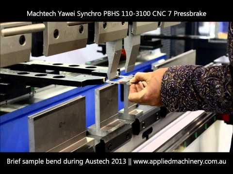 Machtech Yawei Synchro PBHS 110-3100 CNC7 - Brief Demo @ Austech 2013