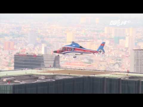 Trực thăng chở khách từ sân bay về khách sạn hiện đại nhất TPHCM