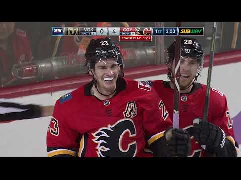 Video: Vegas Golden Knights vs Calgary Flames | NHL | NOV-19-2018 | 22:00 EST