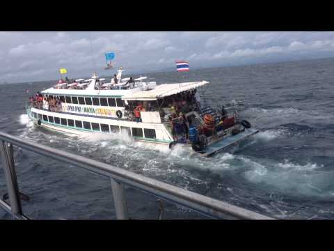 ship runs aground - Thai ferry boat taking on water with 130 people on board! To use this video in a commercial player or in broadcasts, please go to video.storyful.com or email...
