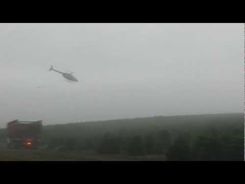 Insane Helicopter Pilot Really Wants To Have A Christmas Tree!