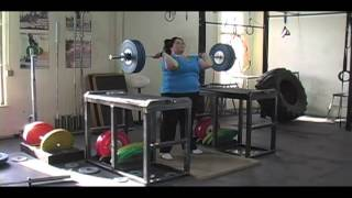 Weightlifting training footage of Catalyst weightlifters. Ben snatch, Audra jerk, Jessica power snatch, Alyssa snatch push press + OHS, Brian hang snatch high-pull + hang power snatch, Ben snatch + hang snatch, Tamara jerk, Blake snatch push press, Jessica power clean.  - Weight lifting, Olympic, weightlifting, strength, conditioning, fitness, exercise, crossfit - Catalyst Athletics Videos