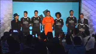 Real Madrid officially unveil the kit they will wear in their upcoming Champions League fixtures this season. The new black kit is designed by Japanese designer Yohji Yamoto and includes two dragons to represent the values of the club. At the unveiling, Gareth Bale and Iker Casillas restated the club's aim to win both the Champions League and La Liga this year
