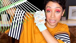 DOING MAKE UP WITH GARDENING TOOLS!!