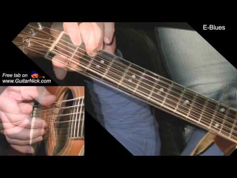 E-Blues: fingerstyle + TAB! Learn to play blues on guitar