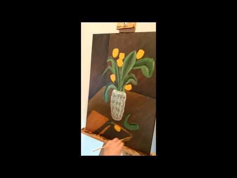Tulpe Acryl Malen lernen