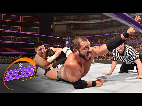 Austin Aries vs. TJ Perkins: WWE 205 Live, April 18, 2017 (видео)