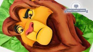 Simba Lion King fondant cake tutorial