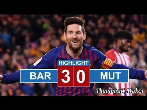 Barcelona Vs Manchester United 3-0 Goals & Highlights