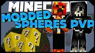 "Minecraft: ""LUCKY BLOCK CHAOS!""   MODDED SPHERES PVP w/PrestonPlayz, Kenny,&Taz!"