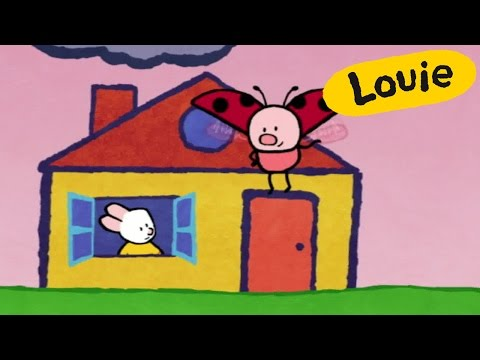 House - Louie draw me a House | Learn to draw, cartoon for children
