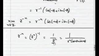 Mod-01 Lec-02 De Moivre's Formula And Stereographic Projection