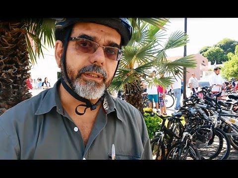 João Alfredo comenta o percurso feito de bicicleta até a Câmara