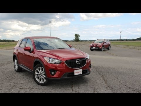 2013 Toyota RAV4 vs 2014 Mazda CX-5 – Track Comparison