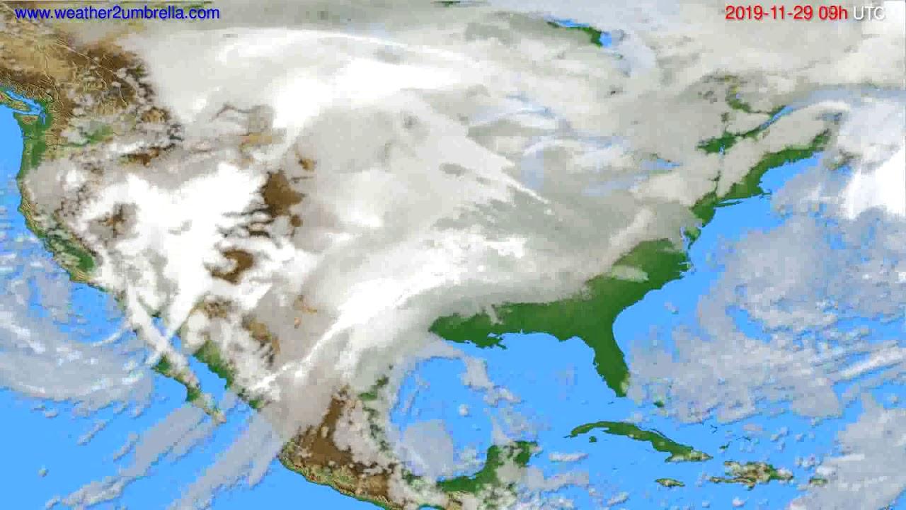 Cloud forecast USA & Canada // modelrun: 12h UTC 2019-11-27