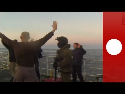 Arctic Sunrise assault: Moment of Greenpeace ship boarding by Russian forces - Unseen footage