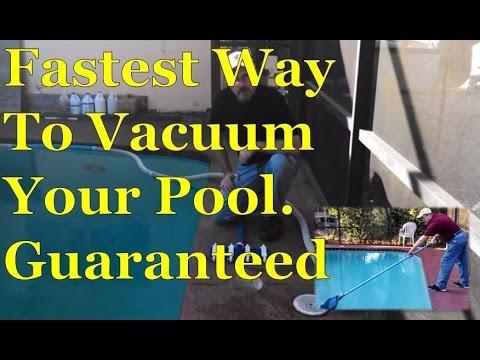 Fastest Easy Way To Sweep & Vacuum Swimming Pool | Dirt & Algae