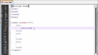 XHTML And CSS Tutorial - 12 - Table Headers And Movie Stars!