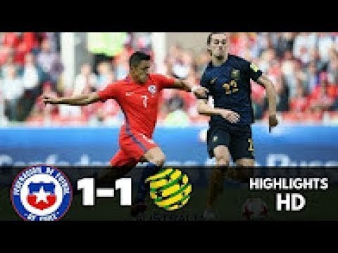 Chile vs Australia 1-1 - Goals y Resumen - Confederations Cup 25.06.2017 HD
