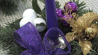 Výroba vánočních svícnů v Domově pro seniory