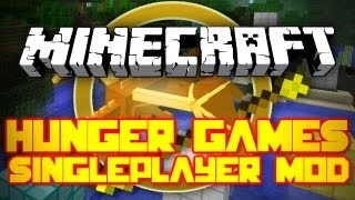 Minecraft Mod Showcase: Singleplayer Hunger Games Mod! [Battle YouTubers and Mojang!]