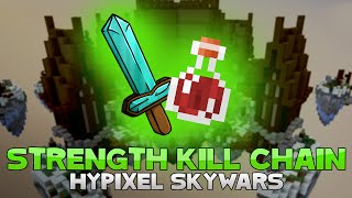 STRENGTH KILL CHAIN + 9 KILL GAME! ( Hypixel Skywars Short )