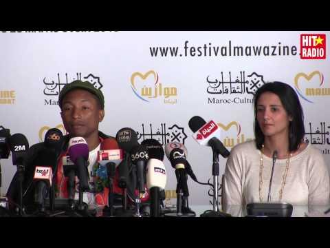 Conférence de presse avec Pharrell Williams à Mawazine 2015 sur HIT RADIO