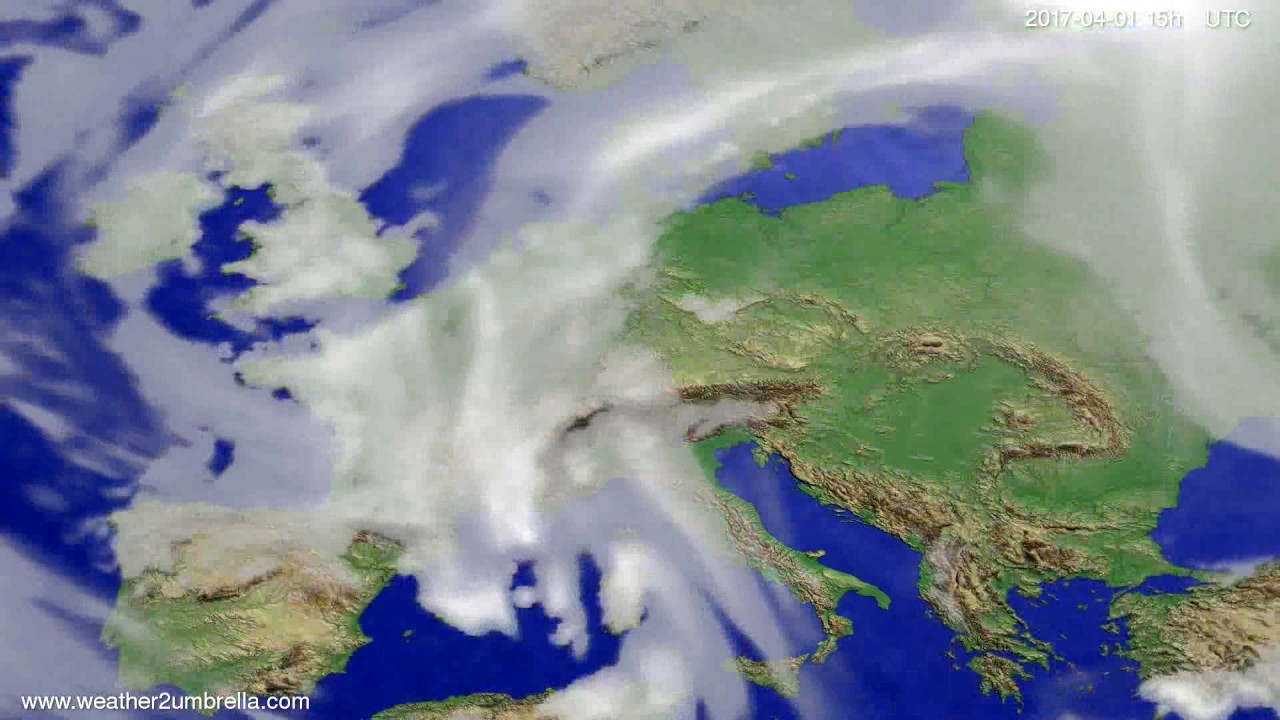 Cloud forecast Europe 2017-03-30