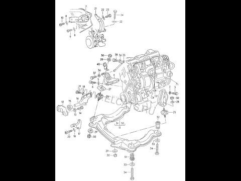 Схема передней подвески на ауди 80 б4 фото