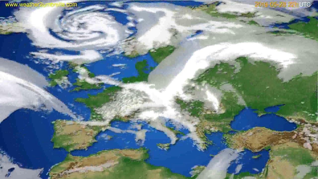 Cloud forecast Europe // modelrun: 00h UTC 2019-05-26
