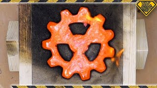 "Casting A ""Radioactive"" Copper Gear"