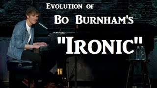 """Bo Burnham performed """"Ironic"""" from 2009 through about 2011. See different lyrics change since the song's origins! Learn How to..."""